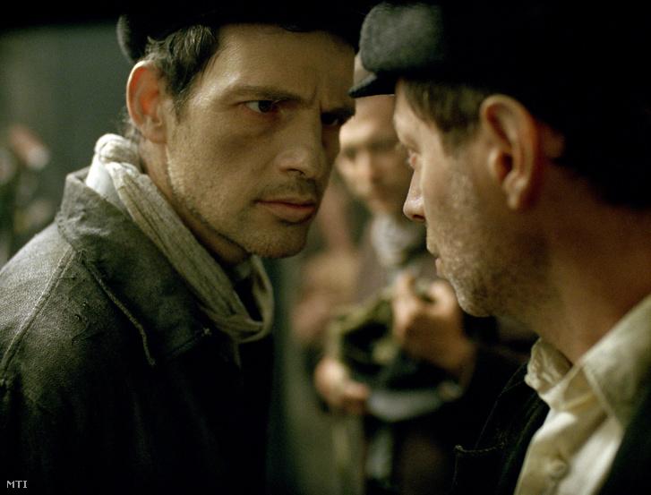 Röhrig Géza színész a Saul fia című film egyik jelenetében