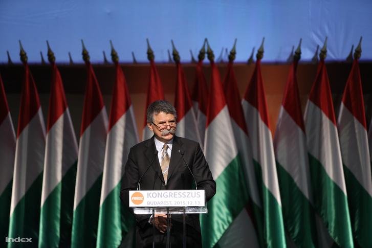 Kövér László a Fidesz vasárnapi kongresszusán