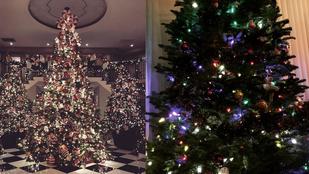 Két celeb karácsonyfája máris áll, rájön, melyik kié?