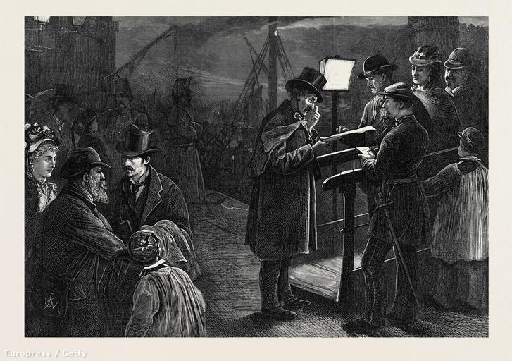 Útlevél-ellenőrzés 1871-ben
