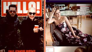 Osvárt Andrea a görög Hello magazinban sztárkodik