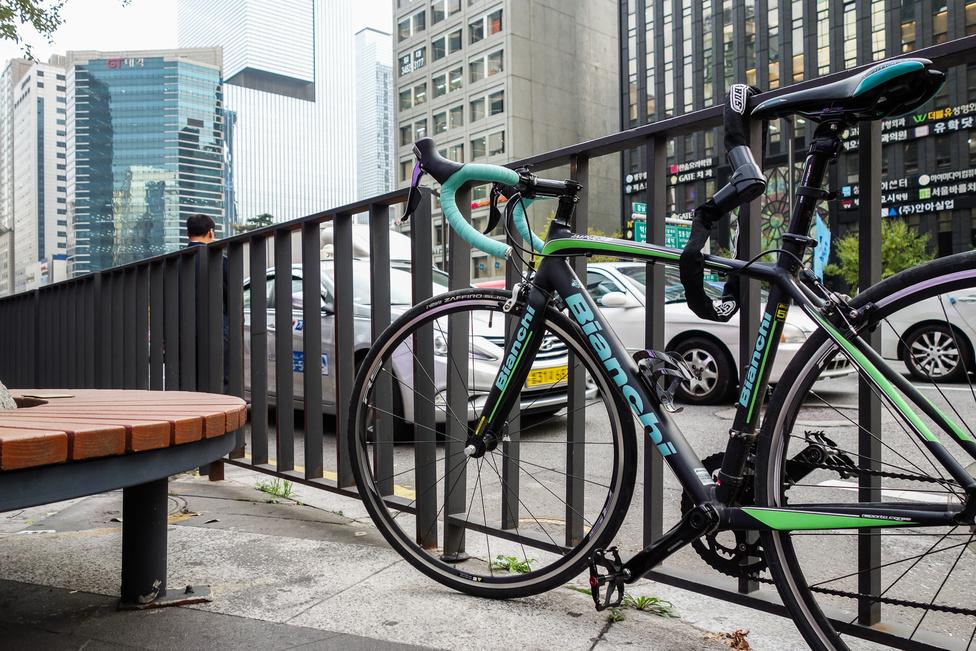 Találtam Bianchit is Szöulban, igaz, nem autó, hanem bicikli