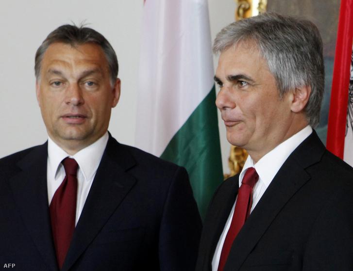 Orbán Viktor és Werner Faymann