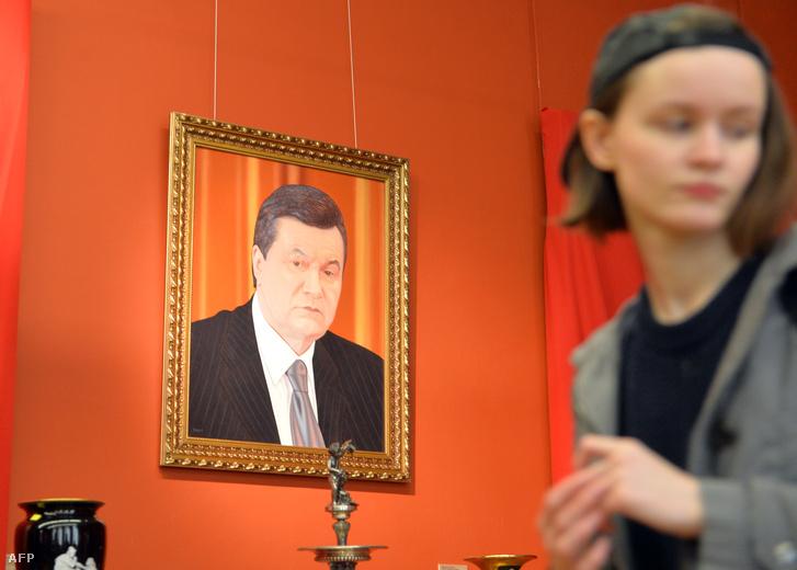 Viktor Janukovics portréja az ukrán Nemzeti Múzeumban