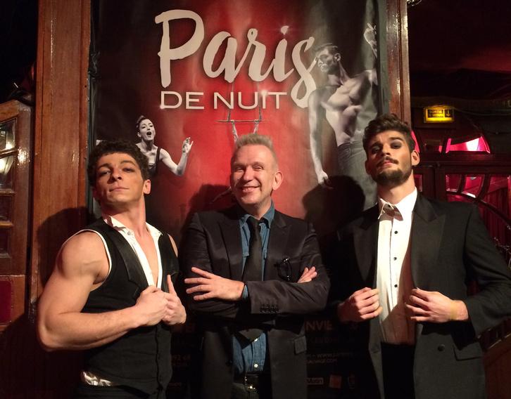 Jean-Paul Gaultier két Recirquel artista körében