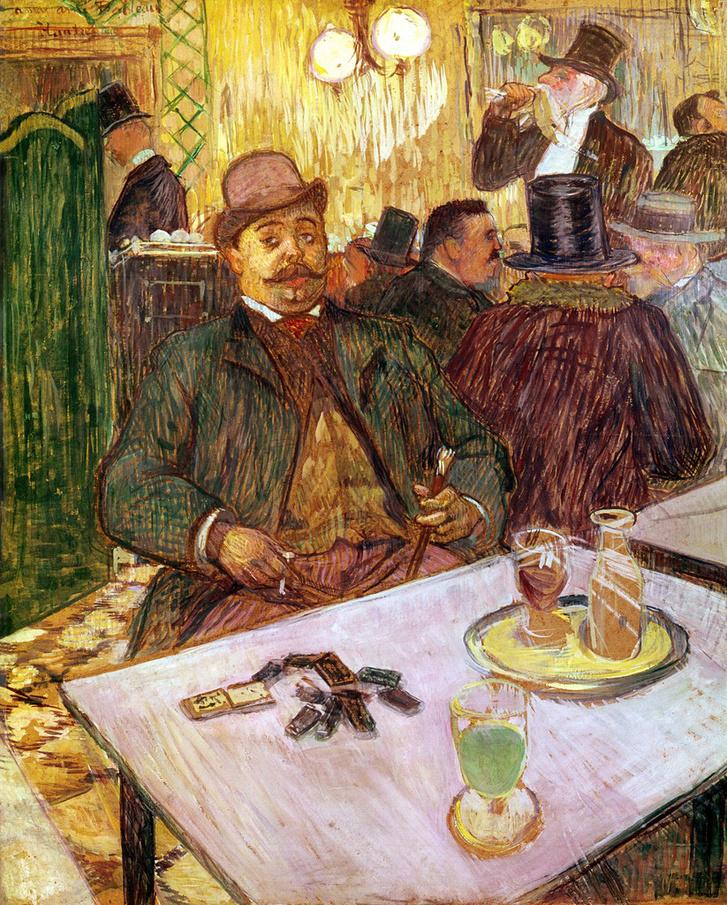 Henri de Toulouse-Lautrec: Monsieur Boileau a kávézóban