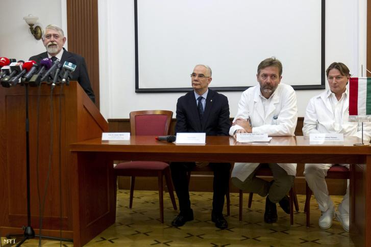 Kásler Miklós, Balog Zoltán, Lang György és Rényi-Vámos Ferenc.