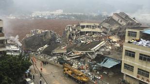 Brutális földcsuszamlás Kínában: legalább 20 embert még keresnek