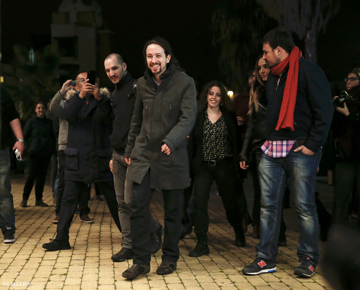Pablo Iglesias, a Podemos vezetője az eredményhirdetés után