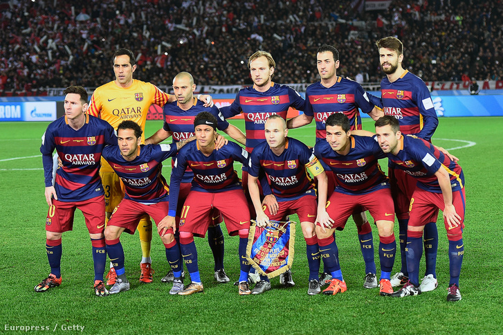 A Barca legjobb tizenegye: Claudio Bravo (kapus), Mascherano, Rakitic, Busquets, Piqué, Messi, Dani Alves, Neymar, Iniesta, Luis Suarez, Jordi Alba
