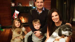 Hajdú Péterék nem aprózták el a karácsonyfájukat