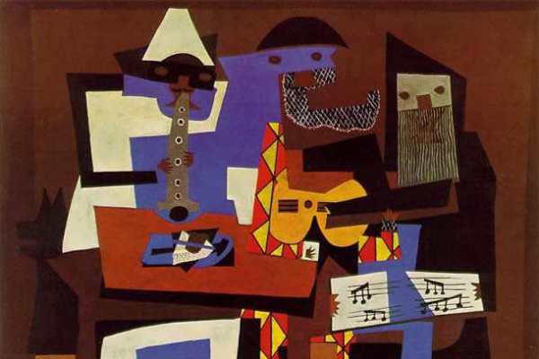 Picasso: Három muzsikus (részlet)