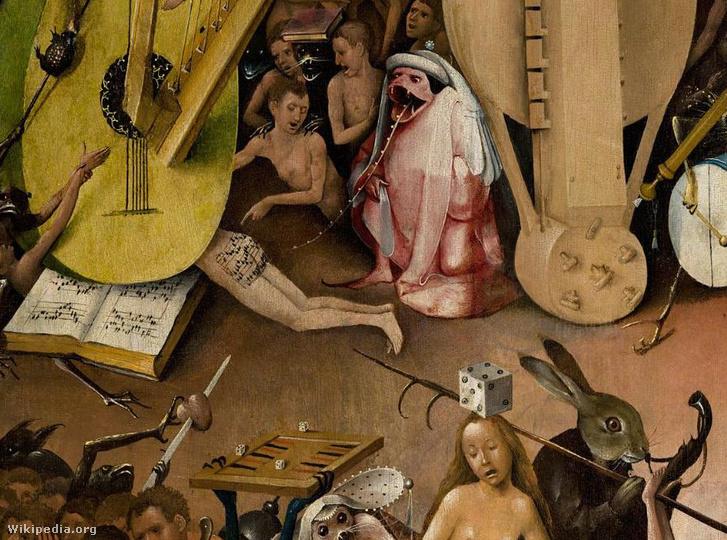 Tekerőlant Hieronymus Bosch festményén