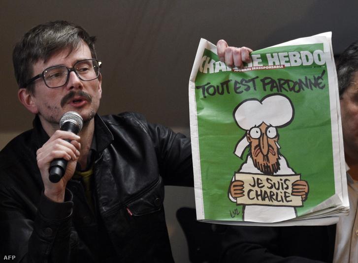 Renald Luzier a Charlie Hebdo merénylet utáni első számával