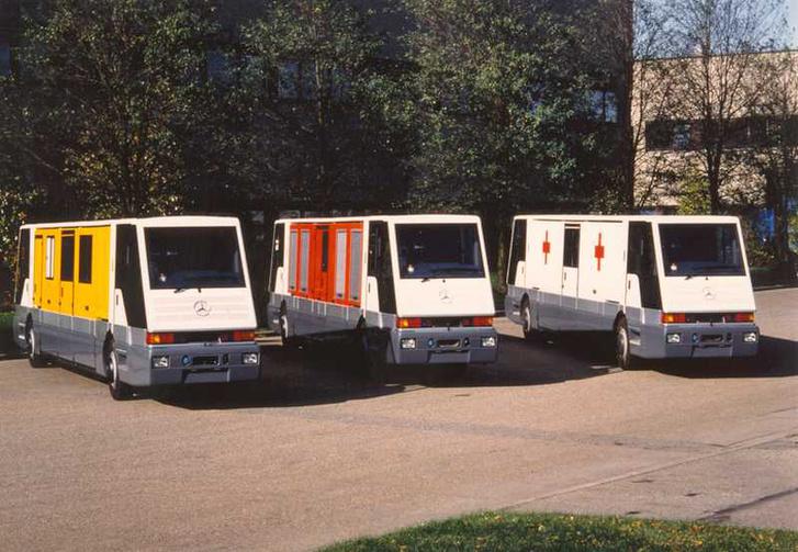 Szerviz, tűzoltó és mentő változatú STTS-ek