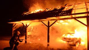 Szénné égett egy ember egy monori garázsban