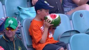 Az év első internetes sztárja: a görögdinnyét majszoló fiú