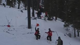 Téli para: menet közben szakadt le a sílift ülése