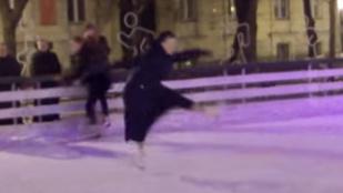 Így piruettezett a jégen egy apáca Pozsonyban