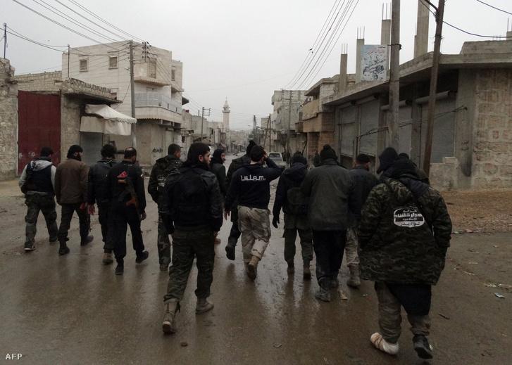 Az Ahrár as-Sám tagjai Szíriában