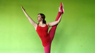 Sáfrány 'Aleska' Emese fizikai képtelenségeket művel a testével