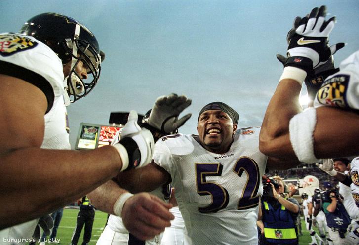 Ray Lewis a Baltimore Ravens-New York Giants mérkőzés után
