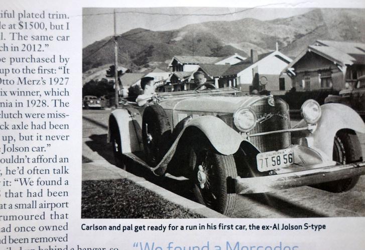 Az 1928-as Mercedes S, amivel Carlson az ötvenes években, 18 éves kamaszként járkált