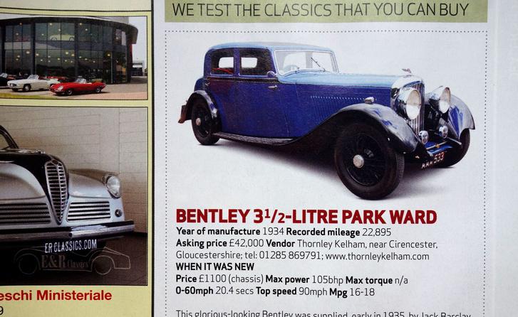 A Bentley, aminek nagyon is köze van a Downton Abbey-sorozathoz, amit mostanában nézünk