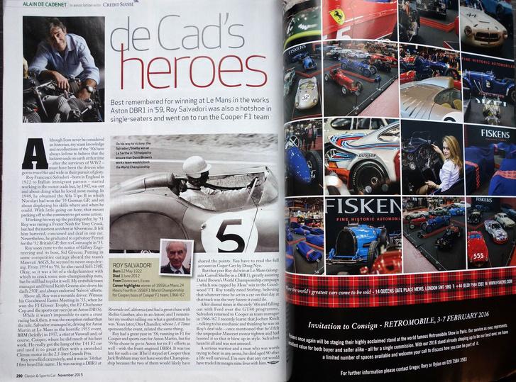 De Cadenet, aki végigversenyzett húsz évet, java részét a saját, összegereblyézett csapataival, Le Mans-ban is. Most híres tévés ember, mellesleg a C&SC-be ír