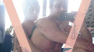 Címlap lett Lady Gaga és vőlegénye szexutáni fotójából