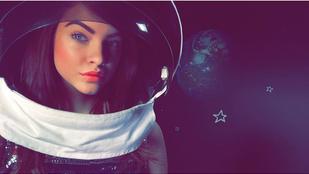 Palvin Barbara megmutatja milyen a tökéletes smink, ha az űrbe megy