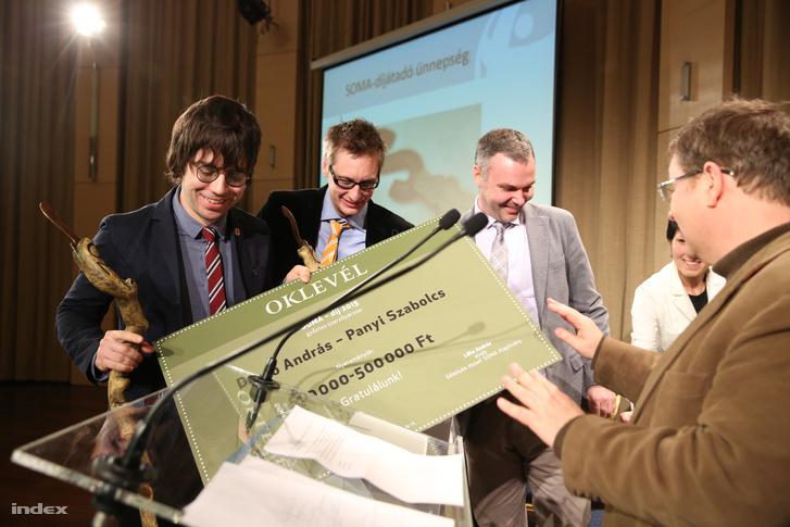 Kollégáink Panyi Szabolcs és Dezső András kapták az idei Soma-díjat.
