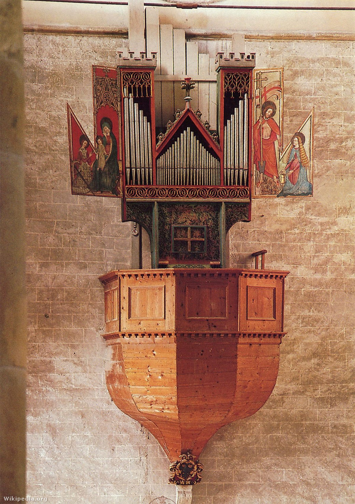 A sioni Valère bazilika orgonája