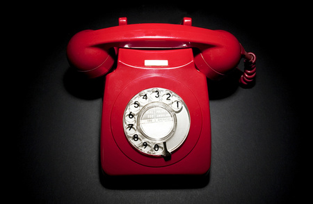 Pick up the red courtesy phone