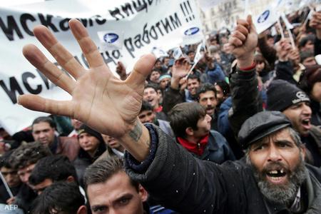 Bolgár romák felvonulása Szófiában