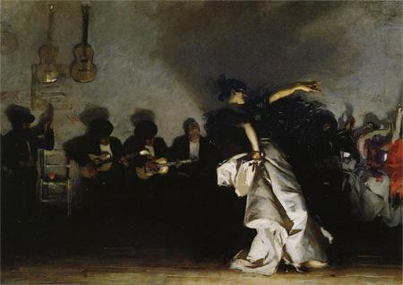 A gitanok tánca - John Singer Sargent festménye