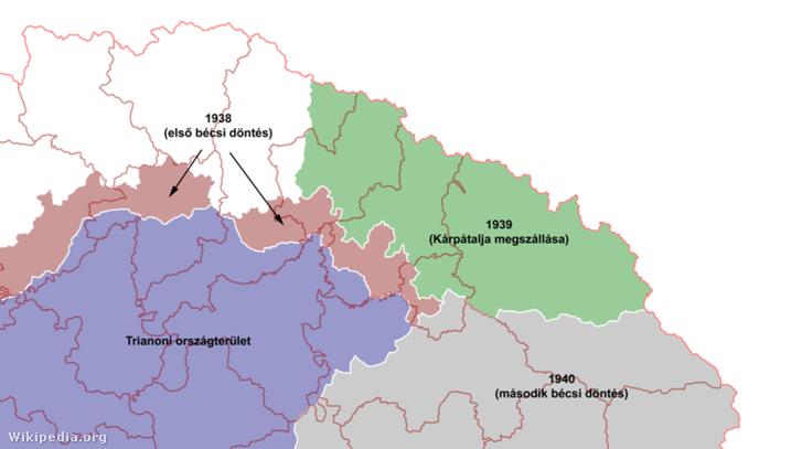 Magyarország határváltozásai 1937-40