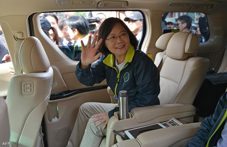 Csaj Ing-ven, a tajvani ellenzéki Demokratikus Haladás Párt (DPP) elnökjelöltje