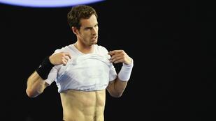 Andy Murray póló nélkül készül az Australian Openre