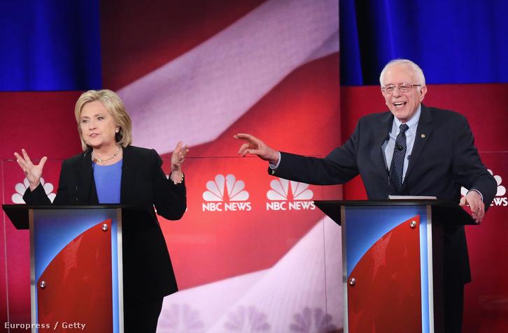 Clinton és Sanders vitája
