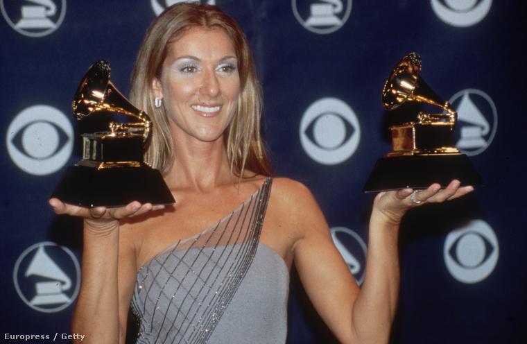Céline Dion két Grammy-díját tarja 1999-ben