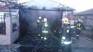Durva képek: három autó égett ki Gyálon