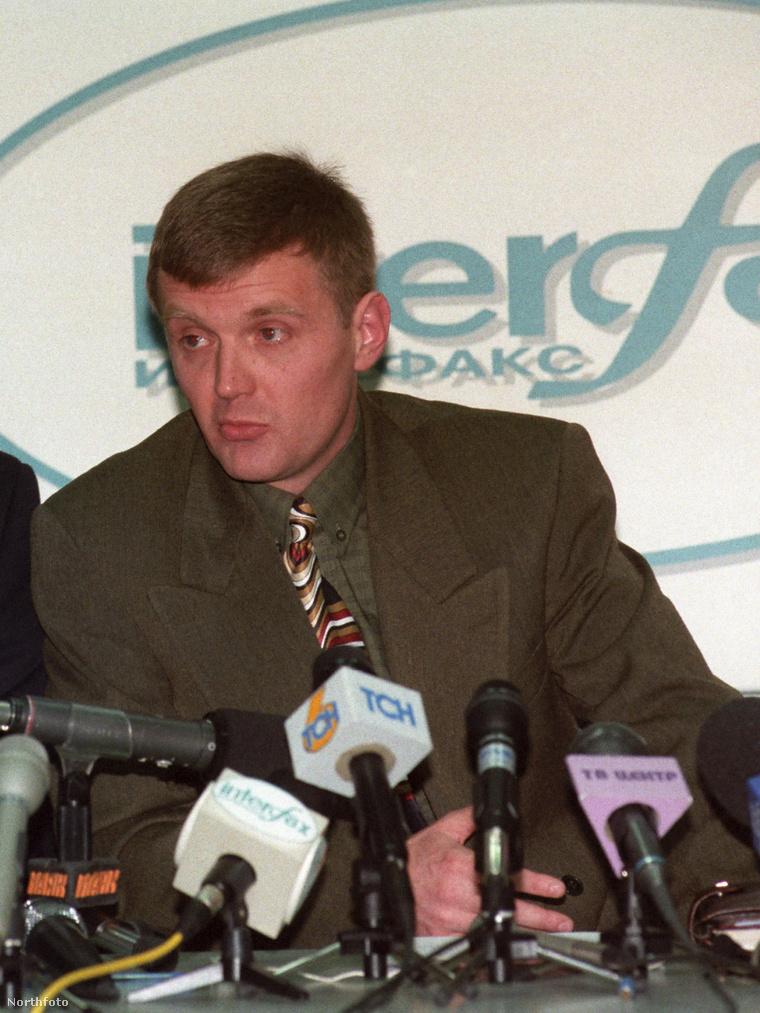 LAlekszandr Litvinyenko még 1998-ban, KGB tisztként