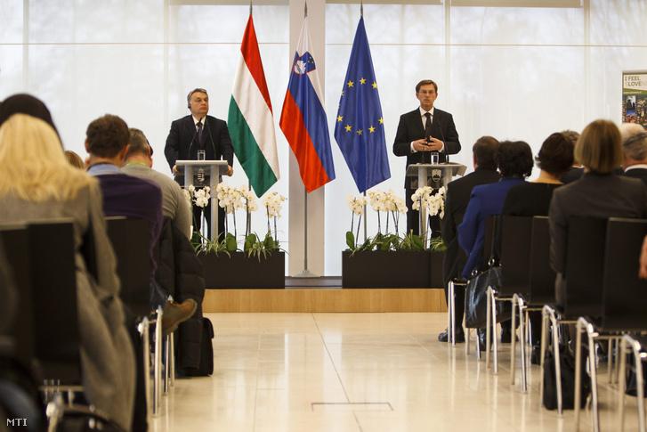 Orbán Viktor magyar és Miro Cerar szlovén miniszterelnök sajtótájékoztatót tart a két kormány együttes ülése után