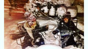 Kate Hudson élvezi a havazást