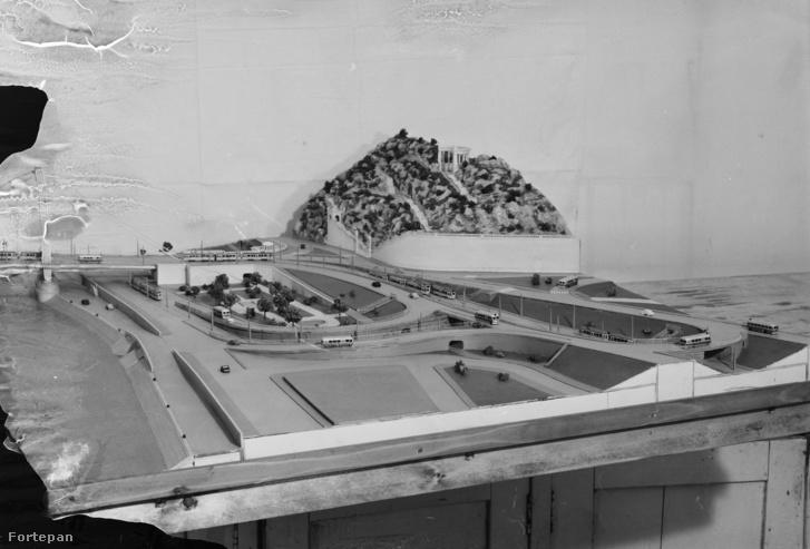 Terv az Erzsébet híd budai lehajtójára