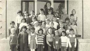 Megtalálja Gáspár Győzőt és Beát ezen az 1980-ban készült iskolai csoportképen?