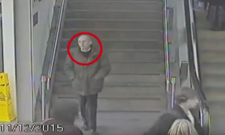 Biztonsági kamera felvétele a férfiről