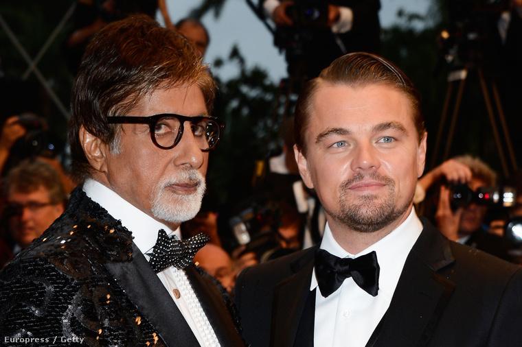 Amitabh Bachchan és Leonardo DiCaprio.