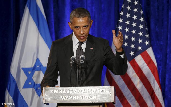 Barack Obama az izraeli nagykövetségen beszélt a Holokauszt-emléknap alkalmából.
